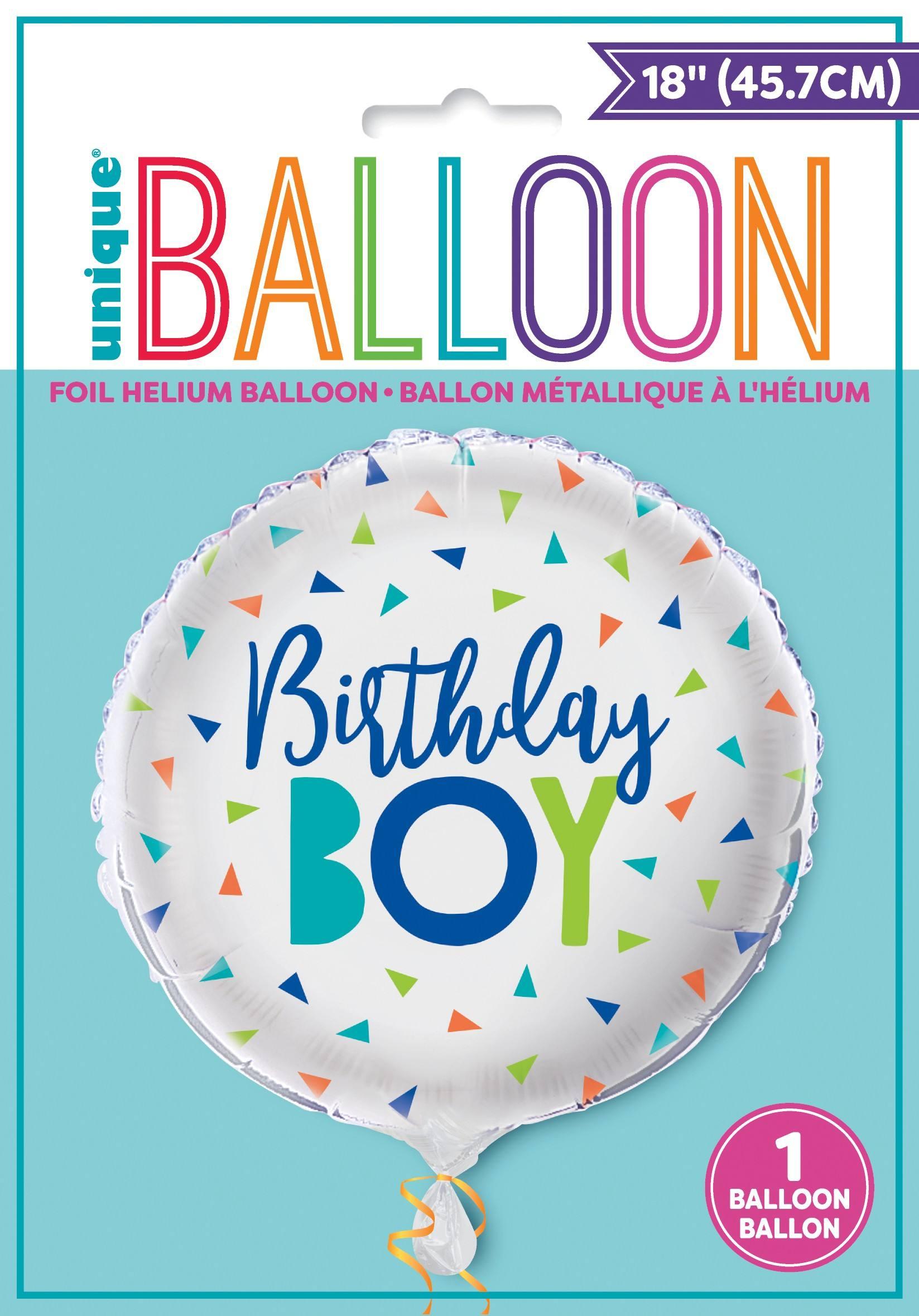 54019-Confetti Birthday Boy Foil Balloon-NT