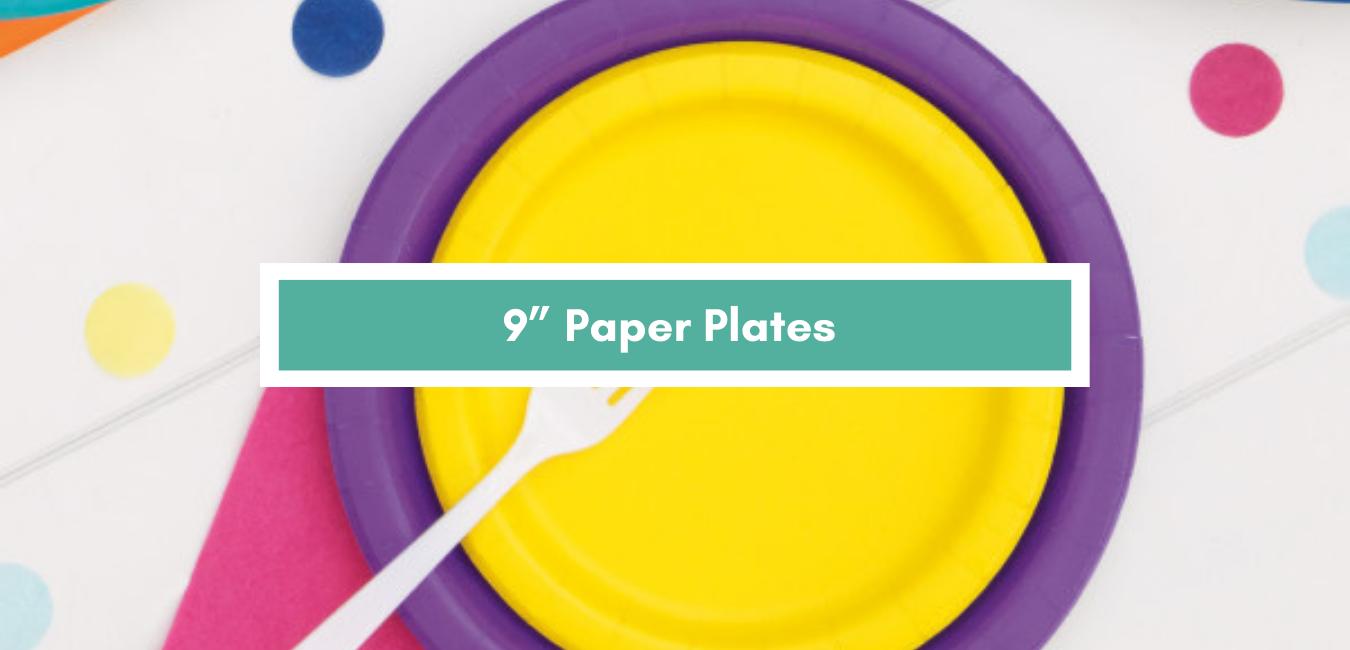 "9"" Round Plates"